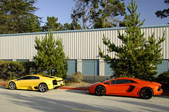 Know Your Roots (Ian Jones Photography) Tags: new old orange black yellow monterey italian hangar fast storage chrome carmel expensive rims lamborghini exclusive flashy murcielago v12 lp640 aventador pebblebeac