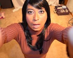 VS Turtleneck Sweater Dress (Amanda Bound) Tags: asian cd secret makeup wig sissy ready turtleneck whore ribbed tg victorias sweaterdress feminize asiancrossdresser