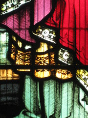 Detail of a Stained Glass Window in the St Peter the Mariner Chapel; the Mission to Seamen - Flinders Street, Melbourne (raaen99) Tags: detail building church window architecture club hotel inn memorial harbour interior lodging religion sailors australia melbourne chapel courtyard victoria historical recreation nautical 1910s shelter 20thcentury stainedglasswindow edwardian flindersstreet 30s 1917 1900s 1930 flindersst anglicanchurch welfare 1916 moh leadlight seamen placeofworship spanishmission seafarer churchwindows satinedglass twentiethcentury melbournearchitecture anglicanchapel spanishmissionstyle leadlightglass edwardiana spanishmissionarchitecture inmemorandum walterbutler missiontoseamen melbourneopenhouse hostlery architecturallydesigned openhouse2012 moh2012 melbourneopenhouse2012 missiontoseamenbuildings stpeterthemarinerchapel harbourlightsguild ladiesharbourlightsguild ethelaugustagodfrey