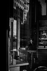 Daily Reflection (Rinzi Ruiz [street zen]) Tags: life portrait urban blackandwhite woman reflection losangeles candid streetphotography streetportrait streetphoto fashiondistrict streetpic nikond700 streetzen streettogs