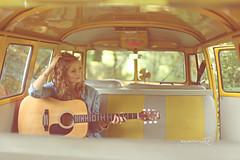 (Marschie) Tags: music girl beautiful smile vw pretty guitar hipster oldschool retro stunning van camper