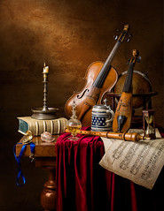 Musical Still Life with the 5 senses. (kevsyd) Tags: stilllife sheetmusic pochette 645d kevinbest dutchstilllife