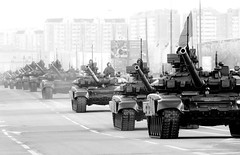 Moscow City Traffic (FotoSerg) Tags: city traffic moscow tanks