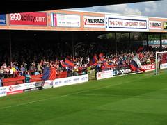 Behind The Goal , The Shippo (David Longhurst) Stand YCFC (Gary Chatterto