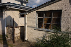 Vacant home / outbuilding - Hamilton Township NJ (Blake Bolinger) Tags: house abandoned home window newjersey gate hamilton nj mercercounty hamiltontownship