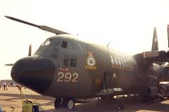 Lockheed C-130K Hercules XV292 (KevReillyUK) Tags: analog airshow scanned analogue lockheed hercules raf c130 lyneham c130k rafmildenhall xv292 8tcc mildenhallairfete usafmildenhall mildenhall1992 mildenhallairfete1992