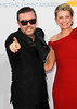 Ricky Gervais and Jane Fallon 64th Annual Primetime Emmy Awards, held at Nokia Theatre L.A. Live - Arrivals Los Angeles, California