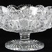 144. American Brilliant Period Cut Glass Compote