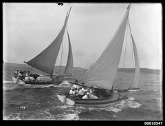 18 footer vessels on Sydney Harbour