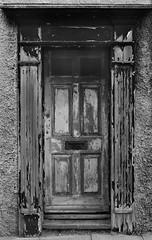 Doorway in Deal (TD2112) Tags: door old urban blackandwhite abandoned rotting mono wooden ruins paint rusty flaky