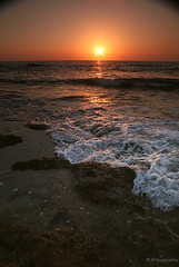Sunset (-Filippos-) Tags: sunset sea sun coast mediterranean cyprus wave foam           kyprow
