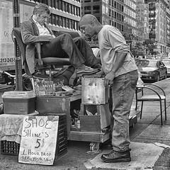6th Ave Shoeshine (Gavin Ross) Tags: street nyc newyorkcity male men america nikon shoes avenue shoeshine americas nikond200