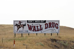 Wall Drug Billboard (the_mel) Tags: horse wall southdakota highway cowboy billboard advertisement drug 90 i90 walldrug