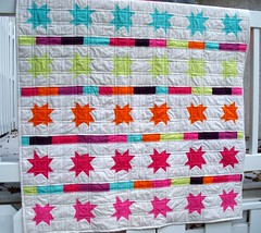 Pure elements star quilt front (LASO Quilts) Tags: star artgallery wonky voile solid straightlinequilting pureelements lasoquilts
