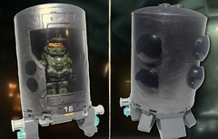 Halo 4 - Master Chief & Cryo Chamber (MGF Customs/Reviews) Tags: lego infinity chief 4 halo master weapons cortana unsc promethean