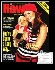 Lita Autographed October 2003 WWE Raw Magazine - COA (Photography - Memorabilia - FAPD) Tags: wwe divas wwf signed magazine playboy torrie wilson lita stacy keibler trish stratus sable sunny christy hemme debra chyna joanie laurer ashley massaro maria jericho batista edge hardy cena steiner dudley austin