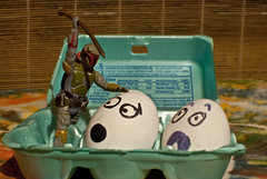 339/365 aka Boba Fett Slays Eggs...Again (Bradley Nash Burgess) Tags: 35mm project toy toys starwars nikon bobafett boba 365 nikkor f18 afs dx fett project365 d80 nikond80 365project nikonafsdxnikkor35mmf18