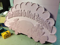 That which is most beautiful (phidauex) Tags: sign cncrouter apogaea