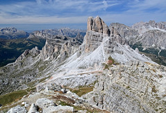 Portrait of a Mountain: Averau (DWH284) Tags: italy mountain limestone sella dolomites nuvolau averau fanes puezodle falzaregopass