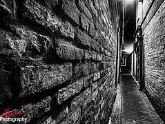 Takeaway Alley (Chris_Mann66) Tags: urban bw wall dark highcontrast gritty alleyway lane lichfield