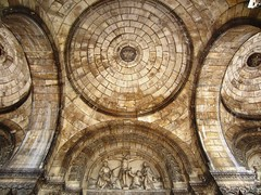 The ceilings of Sacre-Coeur (wander lust wander) Tags: paris france brick church saint statue stone architecture roman circles basilica jesus arches montmartre sacrecoeur coeur sacre ceiling eglise byzantine