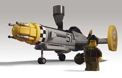 P-70 Predator (JonHall18) Tags: plane fighter lego aircraft fantasy scifi moc skyfi dieselpunk