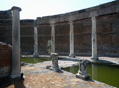 """Maritime Theater,"" Hadrian's Villa, view of modern bridge"