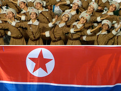 north korean artists - pyongyang (Emmanuel Catteau photography) Tags: travel game tourism girl beauty lady asia artist photographer kim song stadium flag military north reporter young dancer korea il communism singer mass pyongyang troup dictatorial pyonyang catteau wwwemmanuelcatteaucom pyangyang