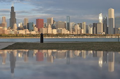 Early Autumn Morning in the City (Seth Oliver Photographic Art) Tags: chicago buildings reflections landscapes iso200 illinois nikon midwest skyscrapers searstower cities cityscapes lakemichigan trumptower southloop pinoy chicagoskyline urbanscapes secondcity adlerplanetarium windycity chicagoist d90 handheldshot cityofbigshoulders sooc aperturef56 granitereflections manualmodeexposure willistower setholiver1 35mm18nikkorprimelens 1320secondexposure
