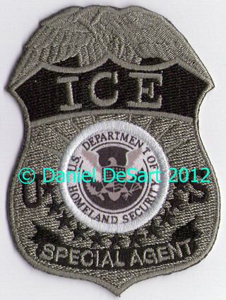 US Immigration and Customs Enforcement (Subdued Badge Patch)