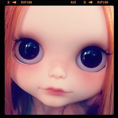WIP-ing. Took a day off from Uni today. Oops!  #blythe #custom #mariuka