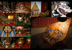 Richness of Indonesian Culture (jean-marc rosseels (very busy)) Tags: color colors collage canon indonesia java performance culture scene montage yogyakarta gamelan wayang wayangkulit canon7d jeanmarcrosseels