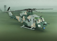 """Bell 412 SP """"Arapaho"""" (Aleksander Stein) Tags: lego military bell helicopter rnoaf ndc norway 412 sp utility transport"""