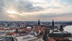 Dresden Skyline I (Kimmo J) Tags: city light sunset sky skyline architecture buildings germany dresden cityscape roofs oldtown couds canonef24105mmf4lisusm canon6d