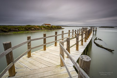 Despertar na Mourisca (PITUSA 2) Tags: naturaleza portugal rio paisaje molino amanecer nubes setubal sado fotografa largaexposicin mourisca pitusa2 elsabustomagdalena