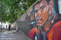 Working Up A Sweat (Trish Mayo) Tags: mural bronxmural wallart muhammadali urbanart andretrenier gnneniyisi thebestofday