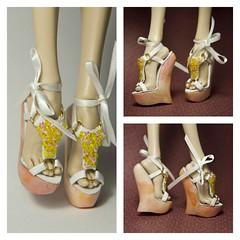 Flower Meadow (UrsiSarna) Tags: fashion popovy sisters little owl peewet bony blue jay heels wedge ballet hand made doll resin