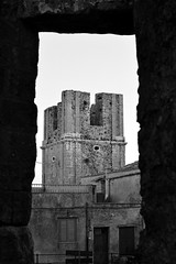 Tower by a tower (FrancBerto) Tags: erice black white