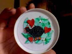 Foto criada em 2016-03-09 as 02.11 #3 (Atelier Renata GAM) Tags: photobooth galinha da angola reciclagem dentro de um copo sorvete