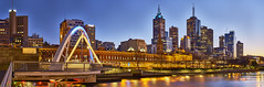 Melbourne at Dawn (explored) (Valley Imagery) Tags: melbourne city skyline bridge walker australia panorama stitched sony a77ii 50mm evan long exposure wide victoria
