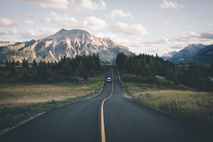 Road trip to Canada starts. (Bokehm0n) Tags: landscape nature vsco explore flickr earth travel folk 500px vscofilm canada mountain road highway scenic sky valley outdoors tree hill daylight snow transportation system environment wood rock guidance