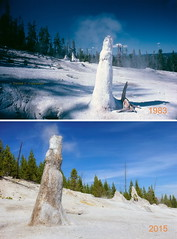 Thermos Bottle Geyser 32 years apart (Chief Bwana) Tags: wy wyoming yellowstone yellowstonenationalpark nationalparks geyser thermosbottlegeyser monumentgeyserbasin geyserbasin psa104 chiefbwana