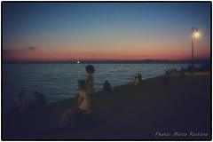 Molo Audace - Trieste, August 2016 (marco/restano) Tags: trieste moloaudace pier sunset tramonto figlia daughter