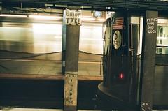 Union Tpke (Derek Mindler) Tags: film 35mm fuji fujifilm fujiframes fujiframez stills artsy color green framing composition dark new york city subway port authority terminal travel florescent train bus commuting