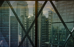 XX (aistora) Tags: window wall glass grid gridwork structure blinds lines geometry raphic color colour facade elevation buildings towers city cityscape skyline architecture light sunlight sunset glow flare ray beam landmark trademark recognisable foster gherkin office workplace workspace room meeting workshop business finance management symbol emblem icon metaphor background sony ilce alpha a6000 kit zoomlns 1650mm epz1650 sel1650pz lightroom abstract semiabstract quasiabstract