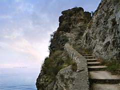 steps (michele franzese) Tags: scalea vacanze paisaje acantilado airelibre roca steps stairs sannicolaarcella sky clouds sea panasonic lumix gx8