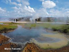 Iceland: Hveravellir Geothermal Area on the Kjölur mountain (mariofalcetti) Tags: iceland islanda hveravellir kjölur water acqua steam vapore landscape paesaggio geothermalarea areageotermale pool pozza