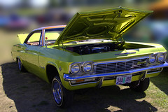 Low Rye Der (swong95765) Tags: lowrider car hydraulics green machine automobile chevrolet impala