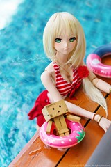 vacation (TURBOW) Tags: doll toy volks dollfiedream dd mikihoshii idolmaster idolmster lullabypoemwig nine9style pool danbo danboard