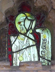 bearded saint wearing a hat and carrying a sword (Simon_K) Tags: wiggenhall mary magdalene magdalen norfolk eastanglia